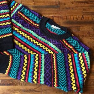 Vintage 80s Colorful Sweater